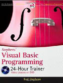 Stephens Visual Basic Programming 24 Hour Trainer w/dvd-Rod Stephens