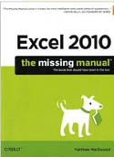 Excel 2010 The Missing Manual-Matthew MacDonald