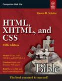 HTML XHTML and CSS Bible 5-E-Steven M Schafer